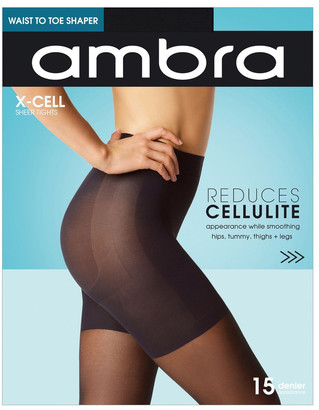 Ambra X-Cell Cellulite Reducing Pantyhose Black