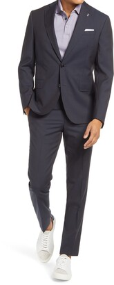Ted Baker Roger Trim Fit Microcheck Wool Suit