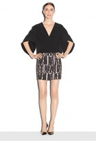 Milly Linear Geo Print Modern Mini Skirt