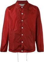 MAISON KITSUNÉ back logo shirt jacket - unisex - Polyamide - S
