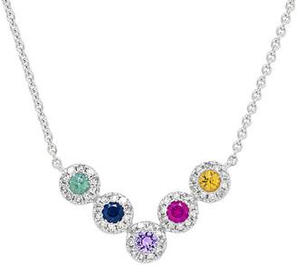 Diana M Fine Jewelry 14K 0.54 Ct. Tw. Diamond & Sapphire Necklace