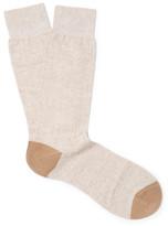 Pantherella Hamada Ribbed Stretch-Knit Socks