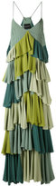 Erika Cavallini - contrast pleated dress - women - Silk/Acetate - 42