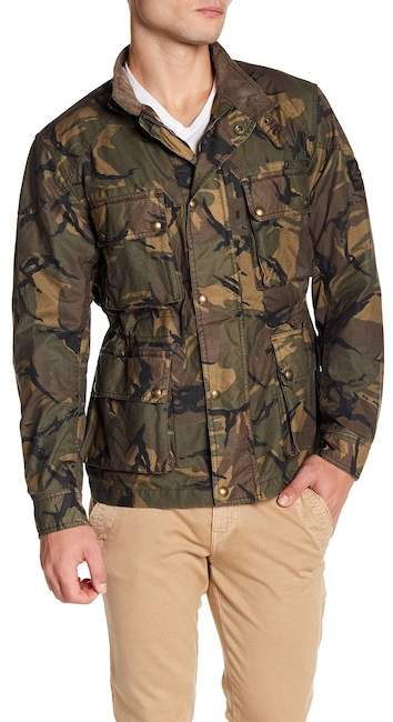 Belstaff Tyefield Camo Wax Cotton Jacket