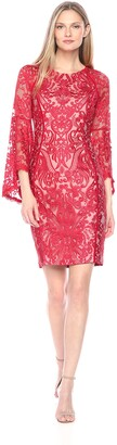 Jax Women's Bell Sleeve Lace Sheath