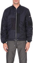 Oamc Contrast-panel shell bomber jacket