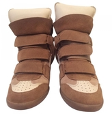 Isabel Marant Camel Leather Trainers
