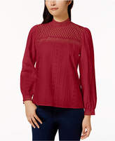 Kensie Cotton Embroidered Top