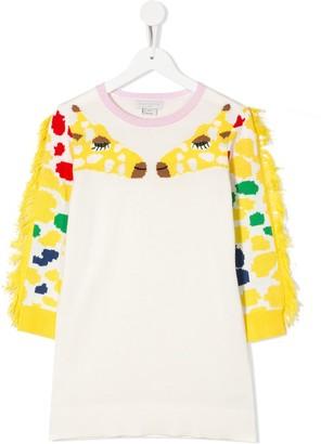 Stella Mccartney Kids Giraffe Print Jumper Dress