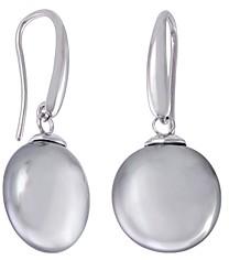 Majorica Gray Simulated Pearl Coin Drop Earrings