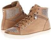 MICHAEL Michael Kors Borerum Studded High Top (Dark Khaki/Pear Nubuck) - Footwear