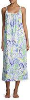 Lauren Ralph Lauren Plus Ruched Cotton Jersey Maxi Nightgown