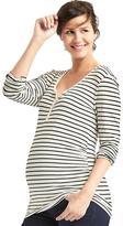 Gap Maternity Pure Body stripe long sleeve henley