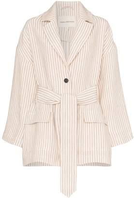 Mara Hoffman Atticus belted stripe jacket