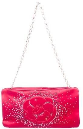 Chanel Strass Camellia Clutch