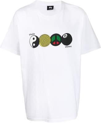 Stussy Yin Yang print T-shirt