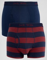 Jack Wills Trunks In 2 Pack Navy & Red