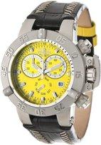 Invicta Women's 11619 Subaqua Chronograph Yellow Dial Black Leather Watch