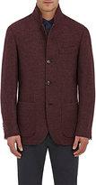 Brunello Cucinelli Men's Cashmere Three-Button Sportcoat-BURGUNDY, RED