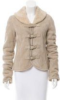 Ralph Lauren Shearling Buckle-Front Jacket