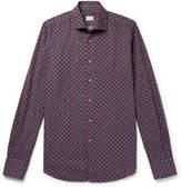Incotex - Printed Cotton And Linen-blend Shirt