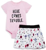 Kate Spade Infants Girls' Here Comes Trouble Bodysuit & Skirt Set - Sizes 12-24 Months
