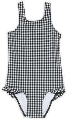 Shoshanna Girl's One-Piece Ruffled Gingham Swimsuit