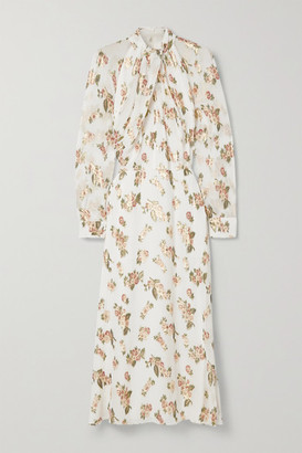 Adam Lippes Fil Coupe Silk-chiffon Midi Dress - Ivory