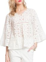 Plenty by Tracy Reese Lace Patterned Blouse