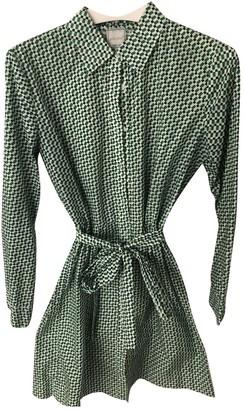 Petite Mendigote Green Cotton Dress for Women