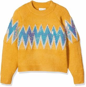 Name It Girl's Onlmischa L/s V-Neck Pullover KNT Jumper