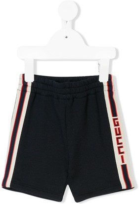 Gucci Kids casual shorts with jacquard trims