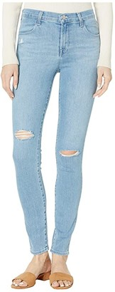J Brand Maria High-Rise Skinny in Cloudy Day Destruct (Cloudy Day Destruct) Women's Jeans
