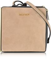 Balmain Pablito Nude Velvet Shoulder Bag