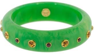Mark Davis 18kt Gold Bakelite Bangle Bracelet