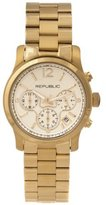 Republic Women's Gold Tone Stainless Steel Chronograph Watch