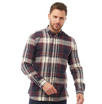 French Connection Mens Multi Flannel Long Sleeve Shirt Chateaux Multi