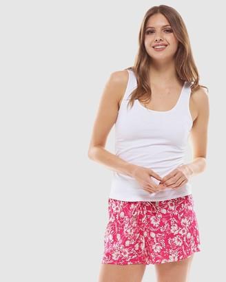 Deshabille Tulip Short In Bag Pink&White
