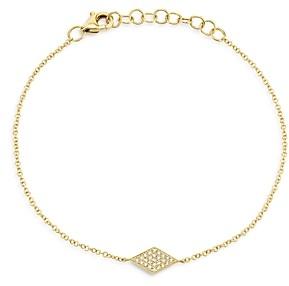 Moon & Meadow 14K Yellow Gold Diamond Geometric Pendant Bracelet - 100% Exclusive