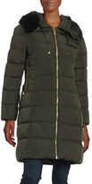 GUESS Faux Fur-Trimmed Puffer Coat