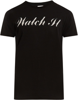 Saint Laurent Watch It-print cotton-jersey T-shirt