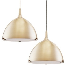 Southern Enterprises Isolde Dome Pendant Light Collection 2 Piece Set