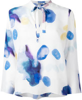 Cacharel blurry print longsleeved blouse - women - Silk - 40