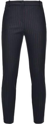 Pinko High-Rise Pinstripe Skinny Trousers