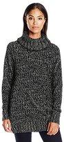 Jason Maxwell Women's Long Sleeve Textured Shirttail Pullover Sweater