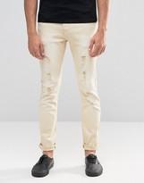 Always Rare Coloured Skinny Jean Rip And Repair
