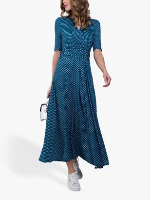 Jolie Moi Abstract Geometric Dress, Blue