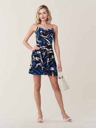 Diane von Furstenberg Gwen Silk Crepe De Chine Mini Dress