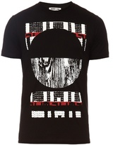 Mcq Alexander Mcqueen Distressed Graphic-print Crew-neck T-shirt