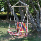 AdecoTrading Naval Cotton Fabric Canvas Tree Hanging Suspended Outdoor Indoor Chair Hammock